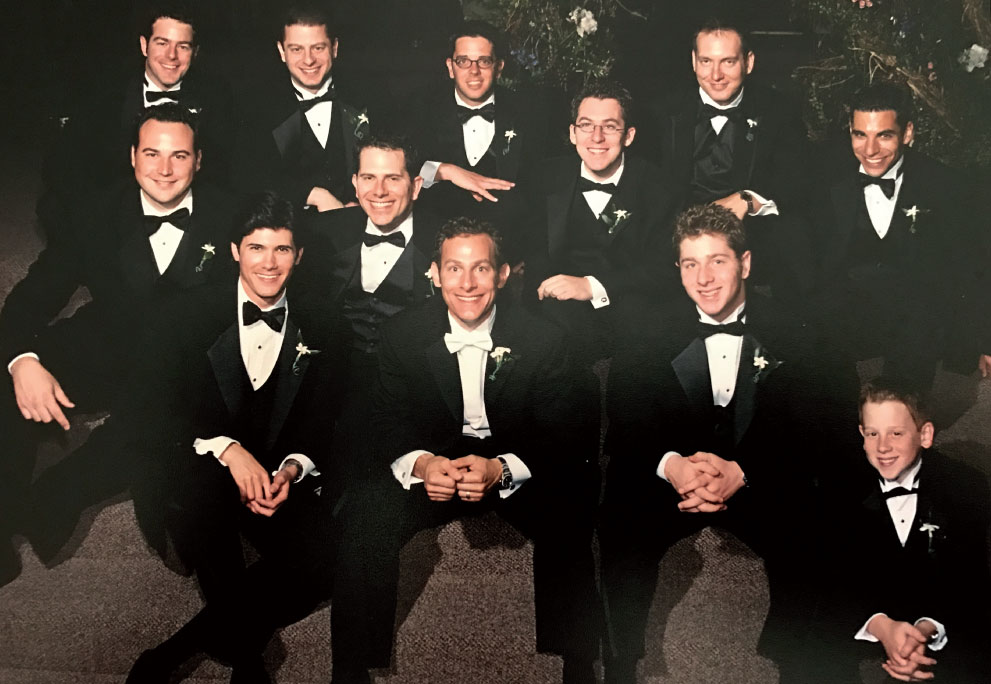 Jon Dwoskin with Group of men in tuxedos