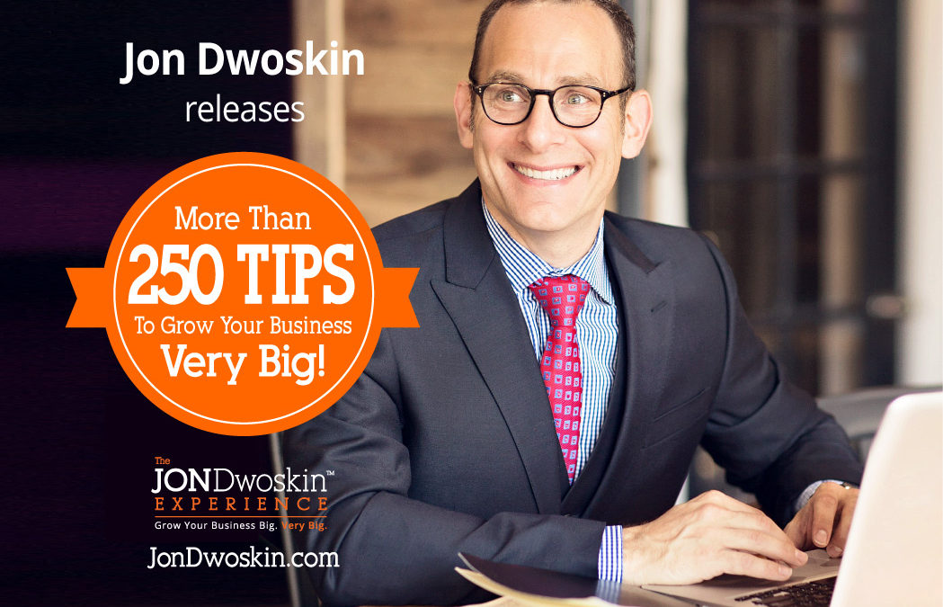 Jon Dwoskin Releases Over 250 Video Business Tips