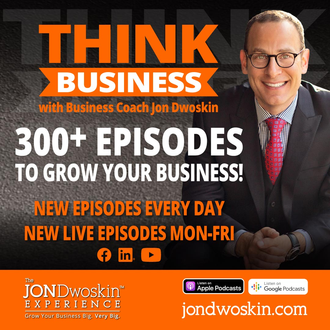 THINK Business Podcast Promo graphic