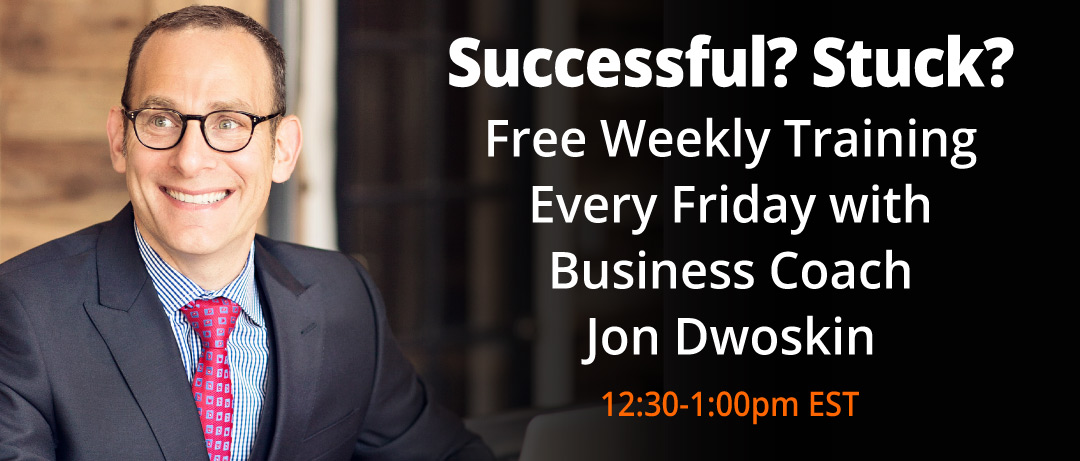 Free Friday Training with Jon Dwoskin