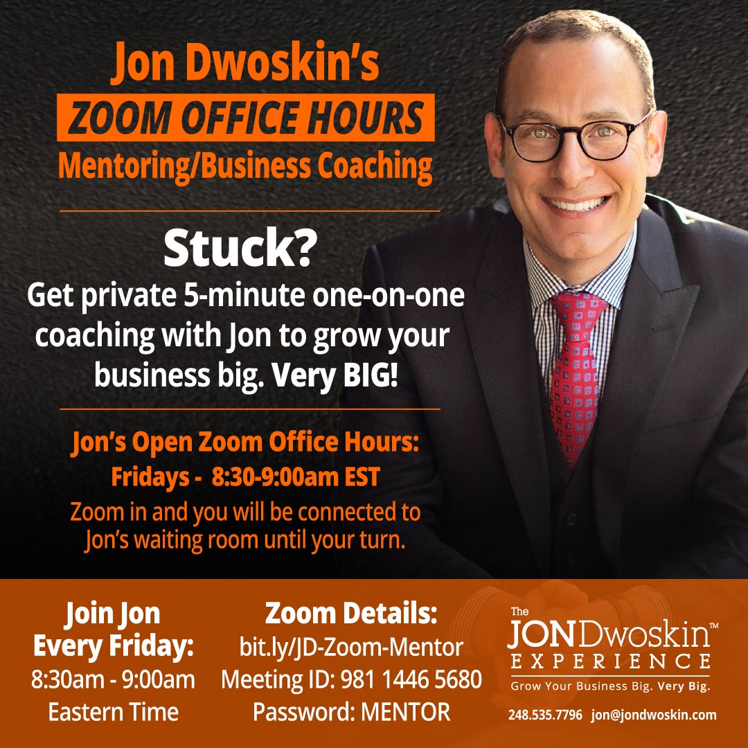 Jon Dwoskin's Zoom Office Hours
