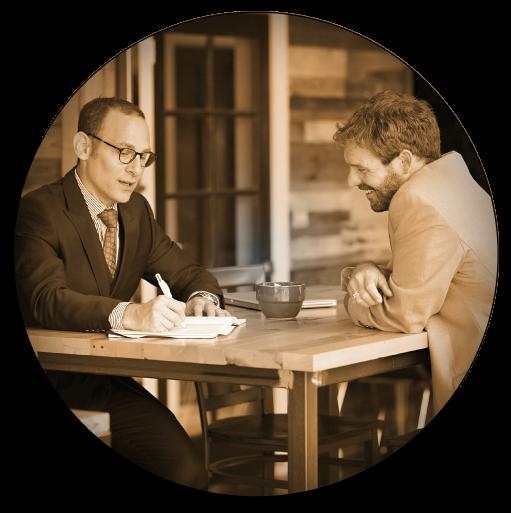 Jon Dwoskin one on one coaching with businessman photo