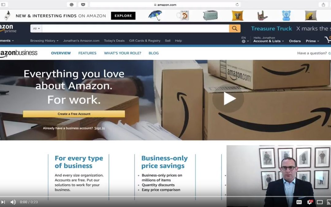 Jon's Business Tip of the Day: Save Big with Amazon Business