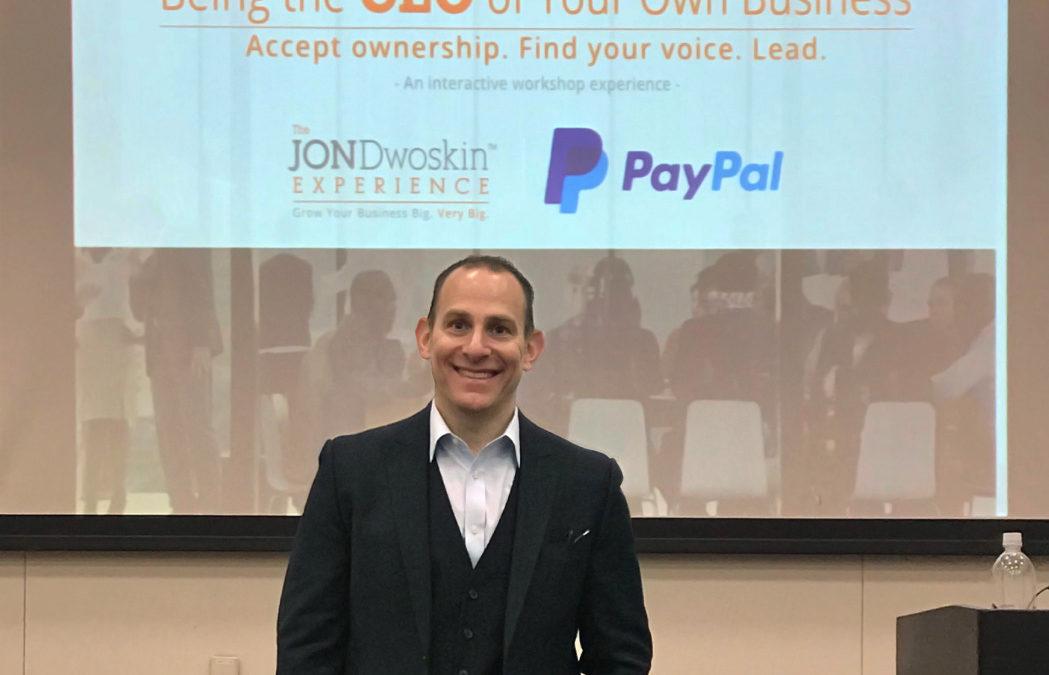 Jon Dwoskin Kicks Off Innovative New Workshops at PayPal in San Jose, Calif.