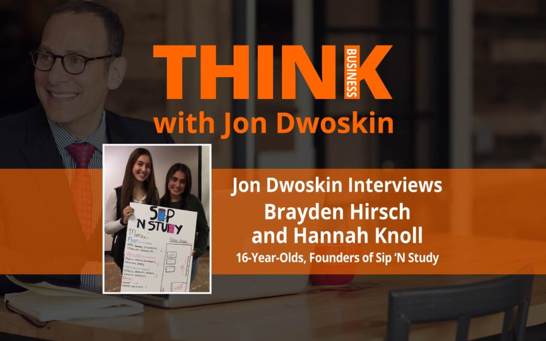 Jon Dwoskin Interviews Brayden Hirsch and Hannah Knoll, 16-Year-Olds, Founders of Sip 'N Study