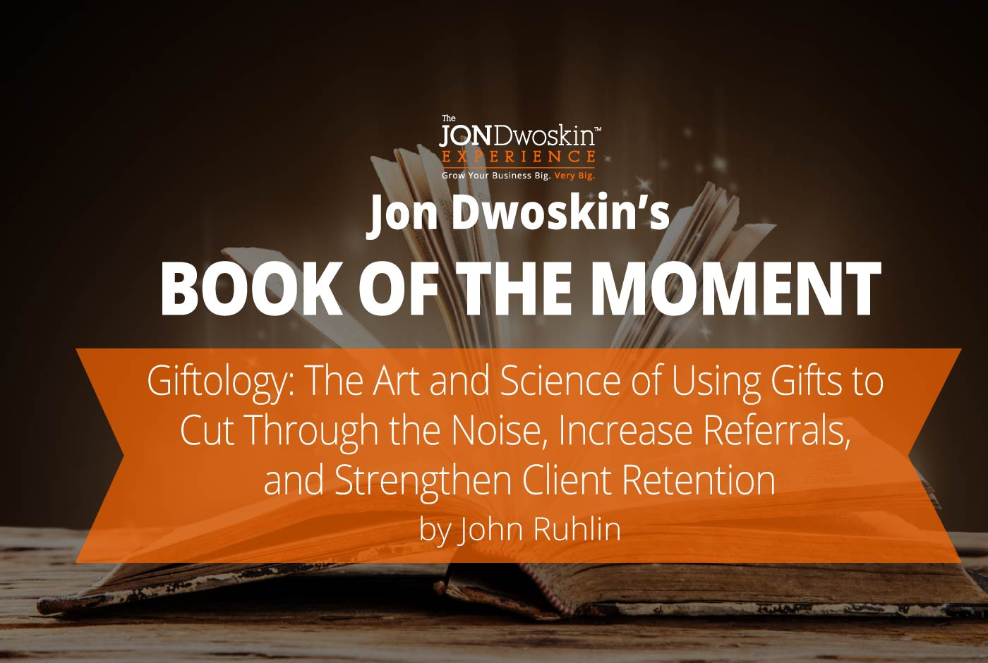Jon Dwoskin's Book of the Month