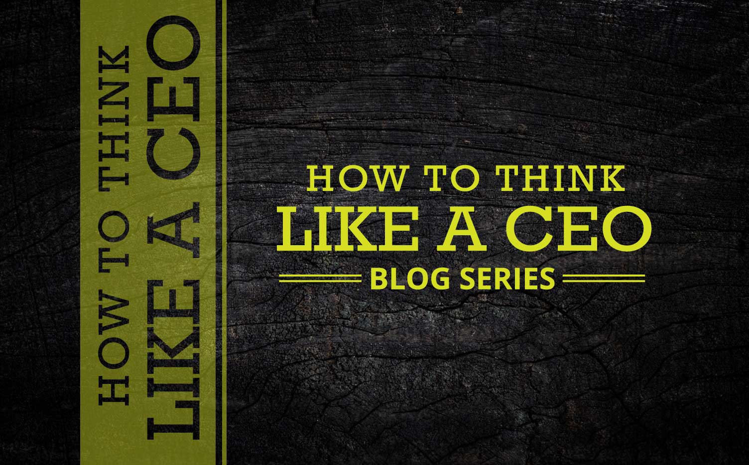 How to Think Like a CEO: Do You Have a Plan?