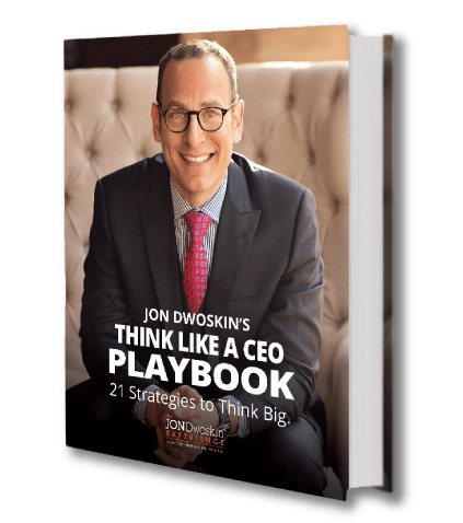 Jon Dwoskin's How to Think Like a CEO Playbook - cover graphic