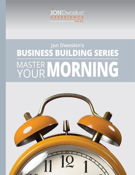 Jon Dwoskin's Master Your Morning - eBook Cover