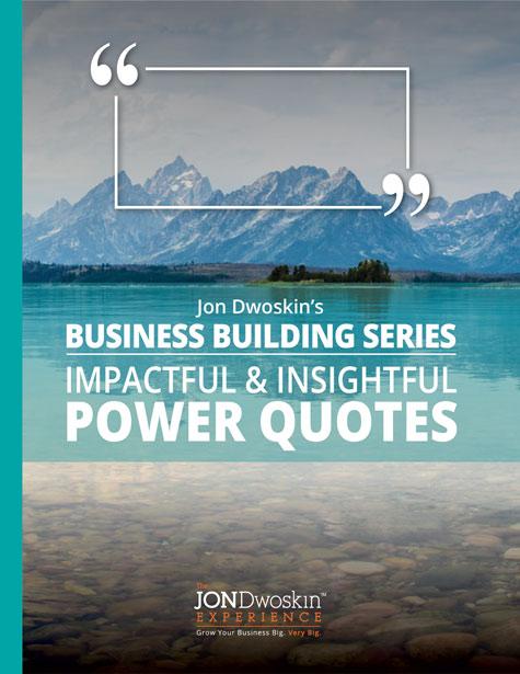 Jon Dwoskin's Impactful & Insightful Power Quotes- eBook Cover