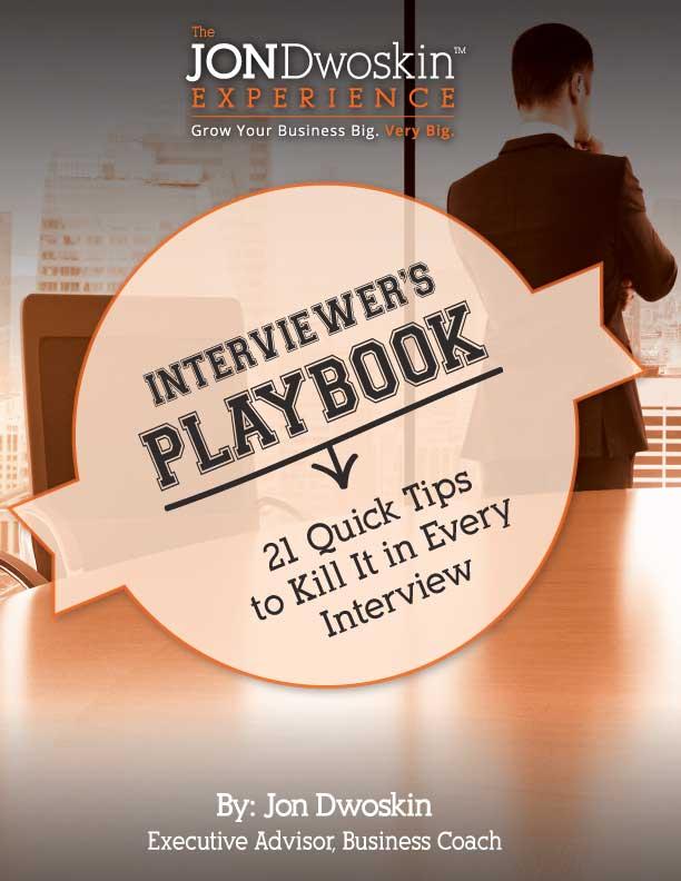Jon Dwoskin's Interviewers Playbook - eBook Cover