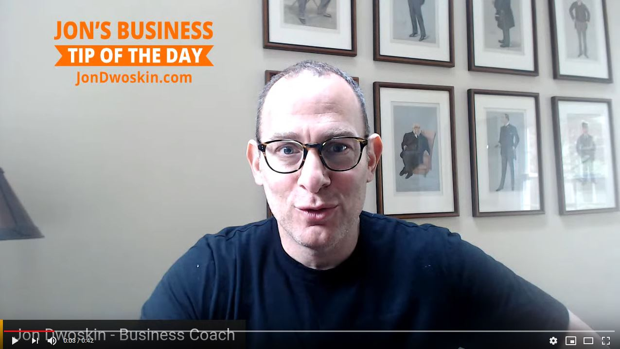 Jon's Business Tip of the Day: A Living Business Plan!