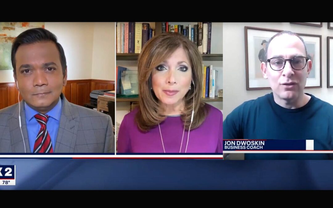 Jon Dwoskin Talks with Roop Raj and Sherry Margolis on Fox 2 News: Reinventing Your Business