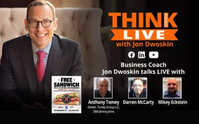 Jon Dwoskin Talks LIVE with Anthony Tomey, Owner, Tomey Group LLC DBA Jimmy Johns, Darren McCarty and Mikey Eckstein