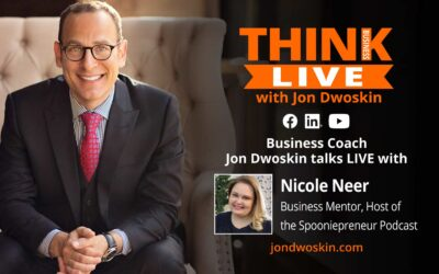 Jon Dwoskin talks LIVE with Nicole Neer, Business Mentor, Host of the Spooniepreneur Podcast