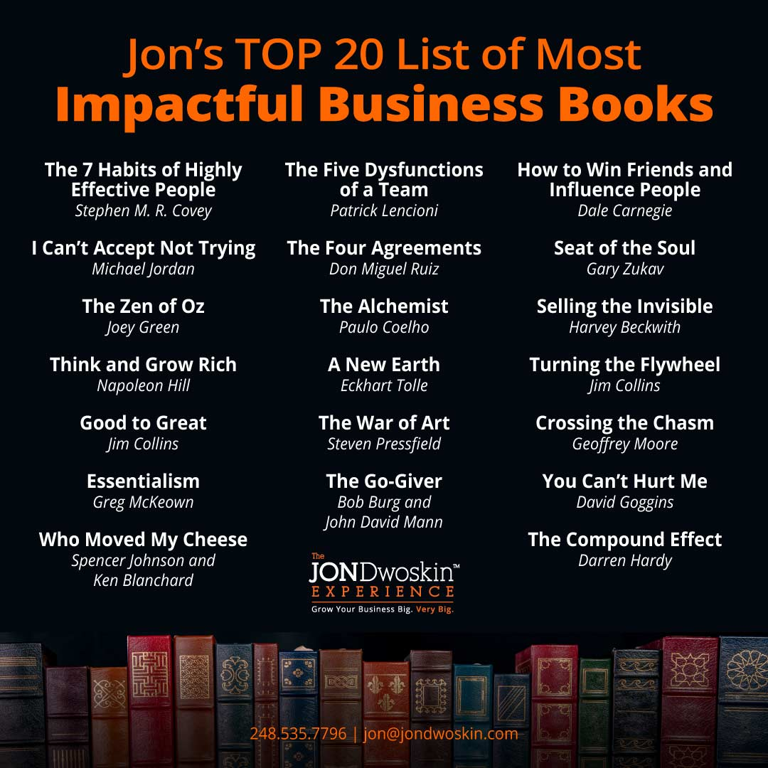 Jon Dwoskin's Top 20 Book List