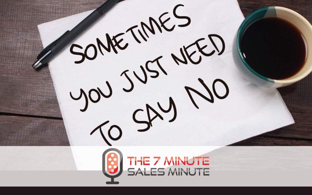 Season 13 – Episode 22 – It's OK To Say No