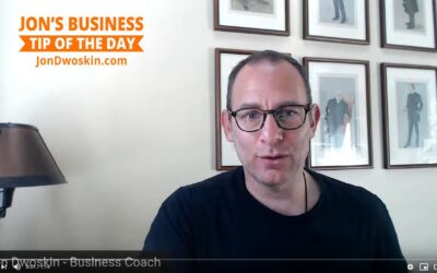 Jon's Business Tip of the Day: 30-Day Plan
