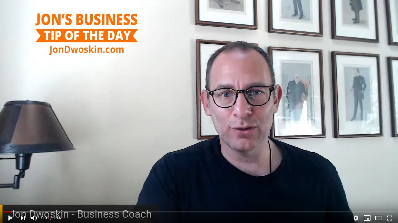 Jon Dwoskin's Business Tip of the Day: 30-Day Plan