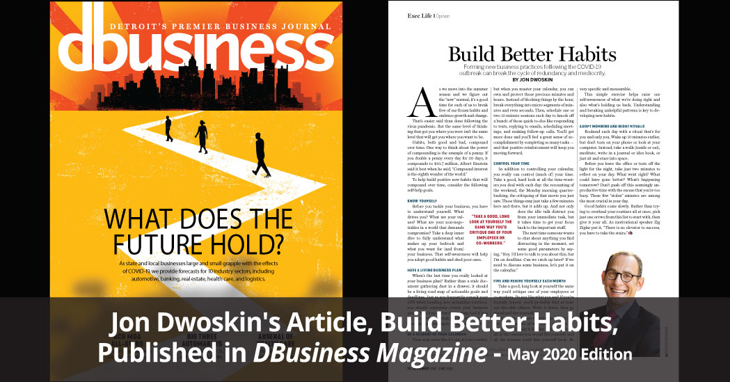 Jon Dwoskin Featured in DBusiness Magazine