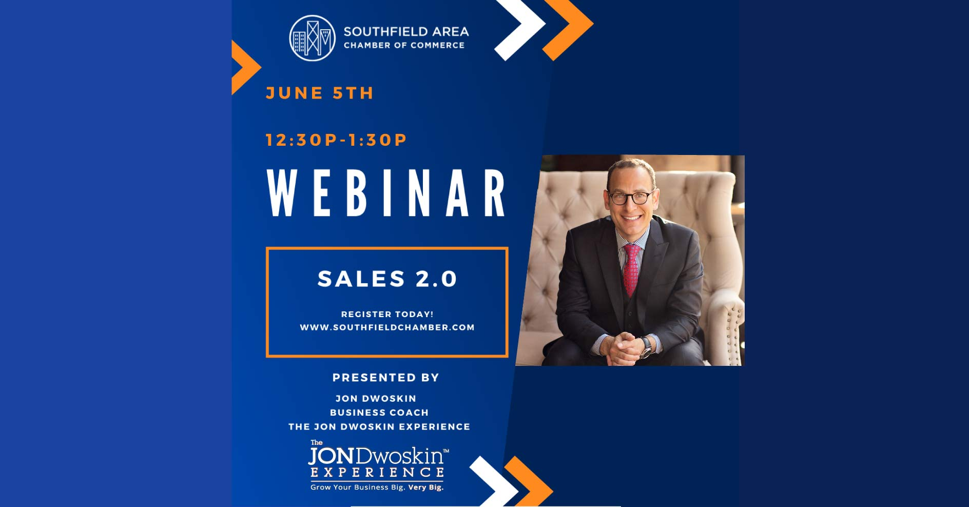Jon Dwoskin Featured on Southfield Chamber Webinar: Double Your Sales 101
