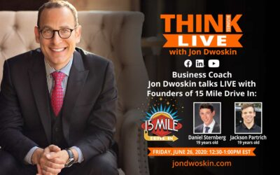 Jon Dwoskin Talks LIVE with Daniel Sternberg and Jackson Partrich, Founders of 15 Mile Drive In at the JCC Parking Lot