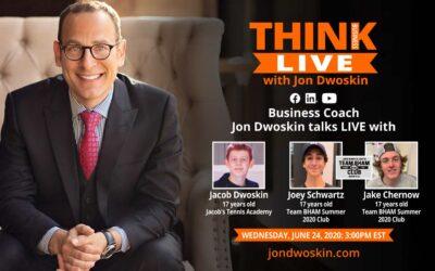 Jon Dwoskin Talks LIVE with Jacob Dwoskin, Joey Schwartz and Jake Chernow
