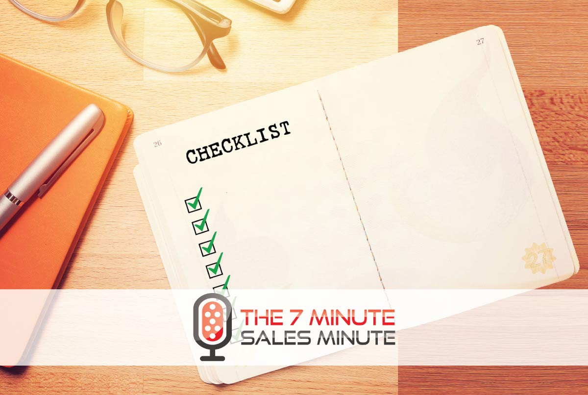 7-Minute Sales Minute Podcast: Season 13 – Episode 23 - The COVID Checklist