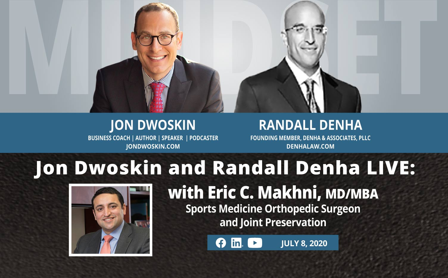 Jon Dwoskin and Randall Denha LIVE: With Eric C. Makhni, MD/MBA