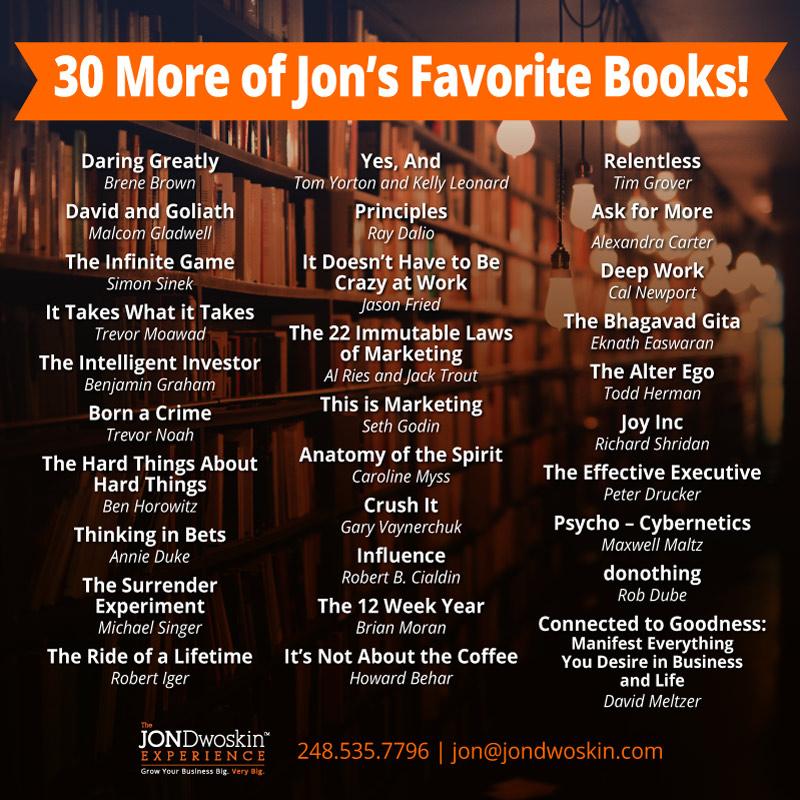 Jon Dwoskin's Favorite Books Graphic