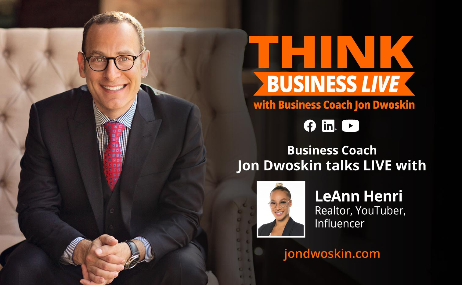 THINK Business LIVE: Jon Dwoskin Talks with LeAnn Henri