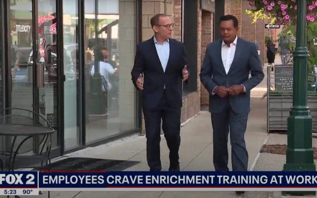 Jon Dwoskin Talks with Roop Raj on Fox 2 News: Employee Retention