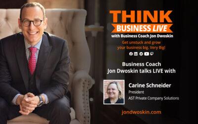 THINK Business LIVE: Jon Dwoskin Talks with Carine Schneider